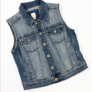 Lauren Conrad Crop Denim Vest Size XS
